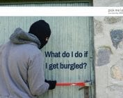 Advice on what to do if you get burgled