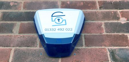 Alarm System Installed in a Swadlincote House to prevent burglary - sml