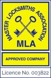 Home Security Burglar Alarm Fitter Derby MLA Approved Locksmith Company Logo