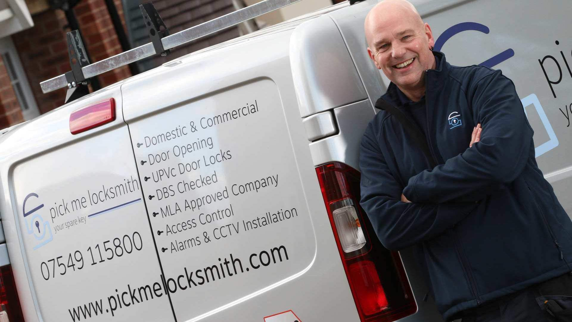 Locksmith Lichfield - Steve Brown Locksmith in Lichfield by his Locksmiths van