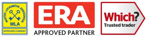 Locksmith Solihull Trust Logos showing we are an ERA Approved Partner & Which Trusted Trader