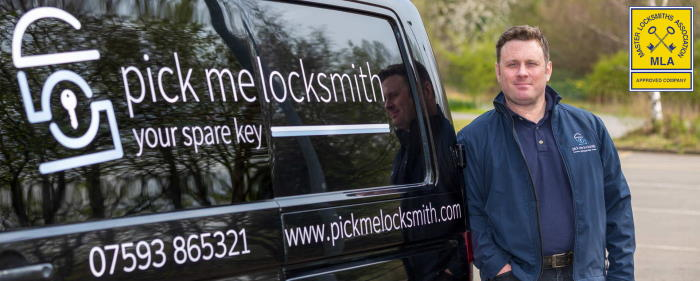 Locksmith Derby - Derby Locksmith by his van