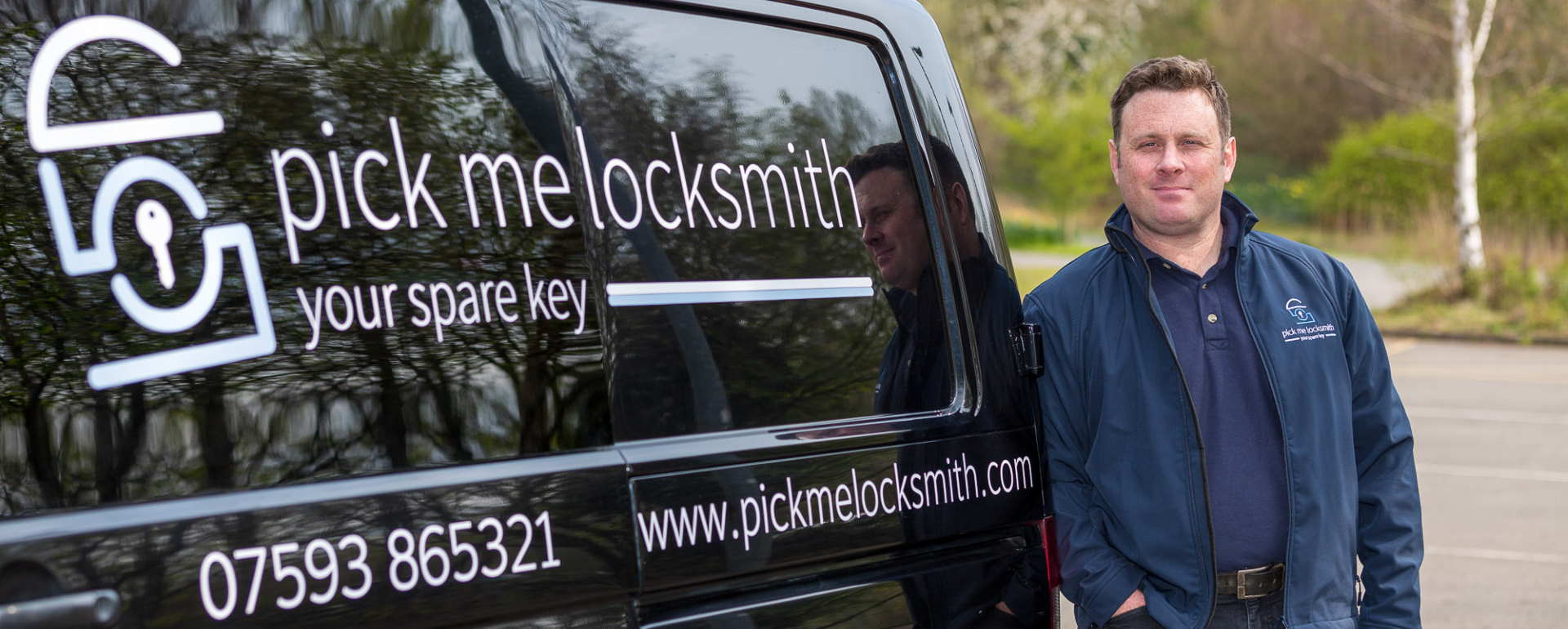Locksmith Burton on Trent - Mark Santi Master Locksmith in Burton on Trent by his Locksmiths van