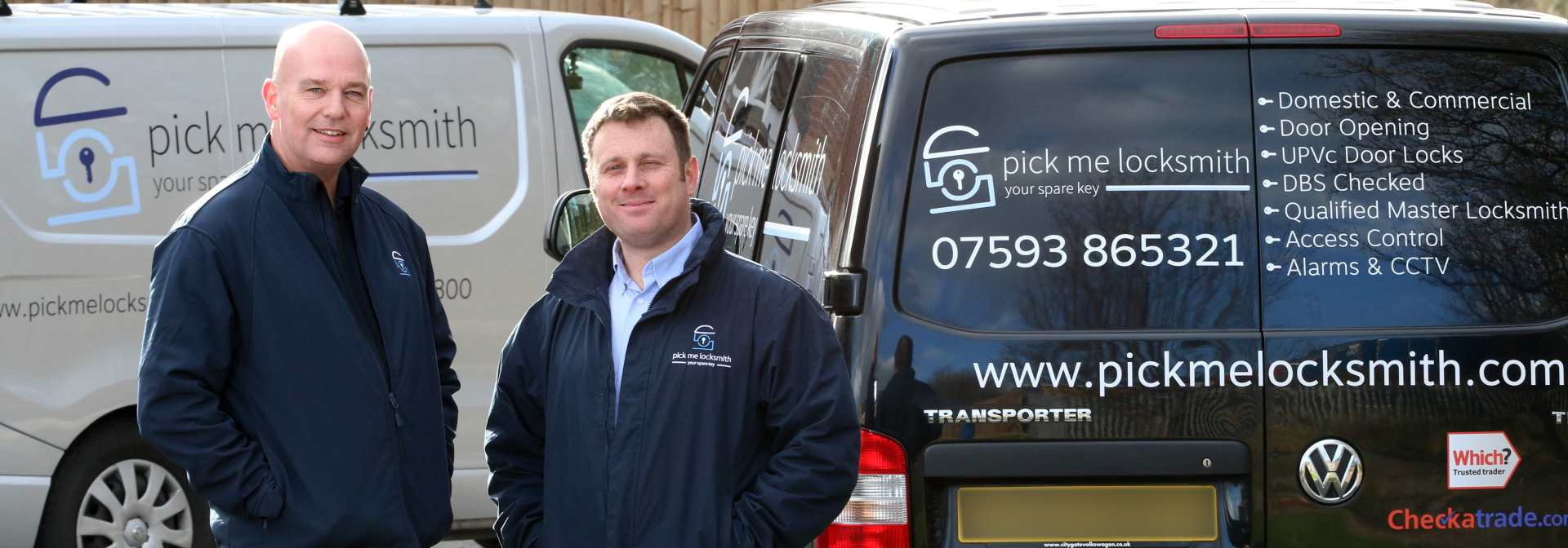 Mark and Steve from Pick Me Locksmith Ltd - Midlands Locksmith - Alarms Fitter - CCTV Installers - Access Control Systems