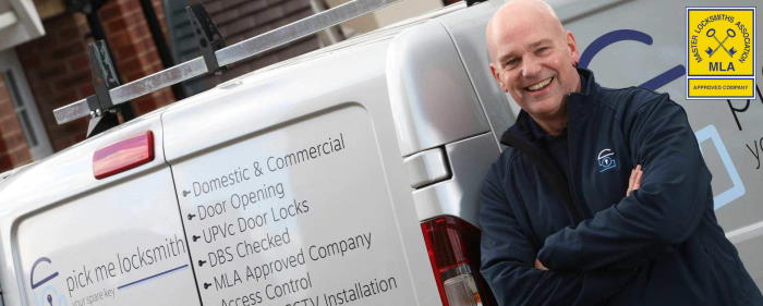 Locksmith Sutton Coldfield - Steve Brown Locksmith in Sutton Coldfield by his Locksmiths van