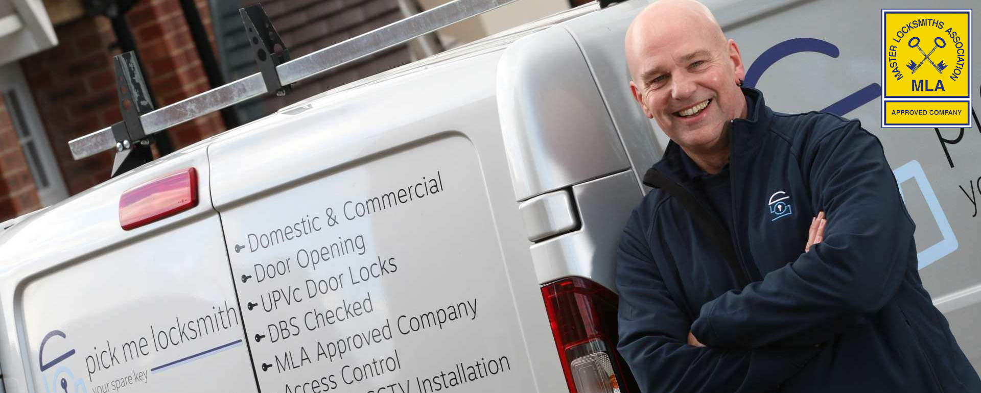 Locksmith Tamworth - Steve Brown Locksmith in Tamworth by his Locksmiths van