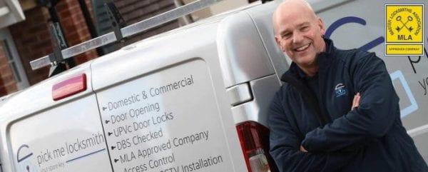 Locksmith Bolsover - Steve Kearney Locksmith in Bolsover by his Locksmiths van