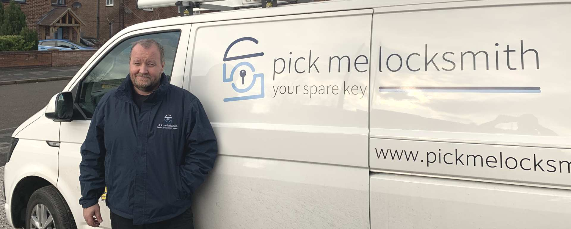 Locksmith Mansfield - Steve Kearney Locksmith in Mansfield by his Locksmiths van